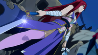Erza prepares to fight Midnight