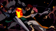 Dan is punched by Natsu
