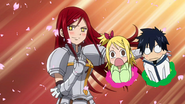 Erza volunteers for a performance