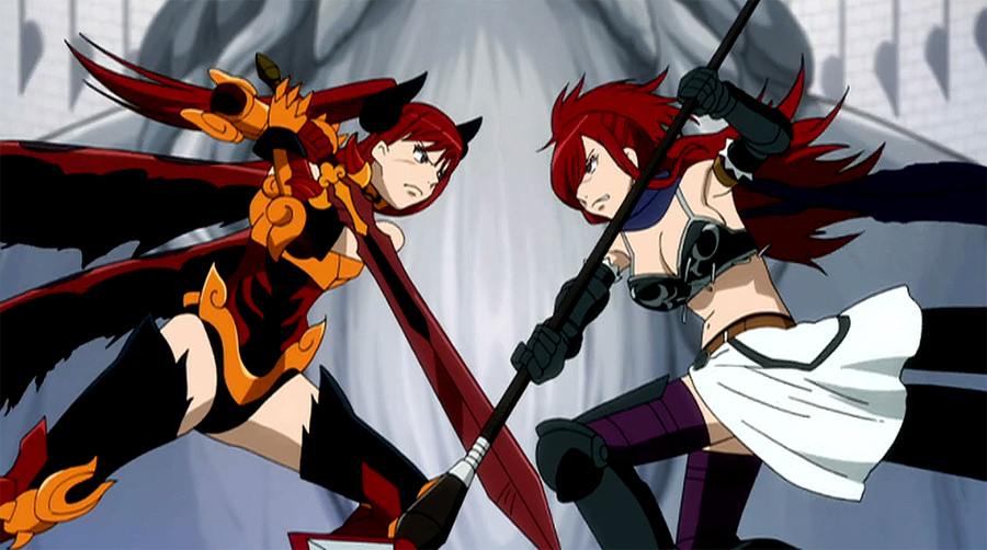 Erza scarlet vs erza knightwalker fairy tail wiki - Image fairy tail erza ...