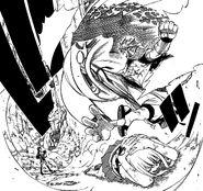 Natsu Kicking Kain