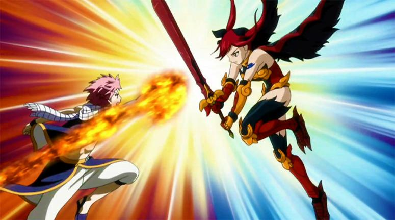 Erza scarlet vs natsu dragneel fairy tail wiki fandom - Image de natsu fairy tail ...