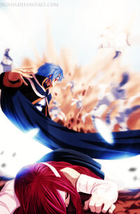 Jellal saves Erza fanart