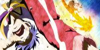 Natsu Dragneel, Lucy Heartfilia & Happy vs. Bora