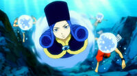 Team Natsu takes an underwater route