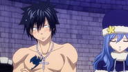 Gray's reaction to Juvia