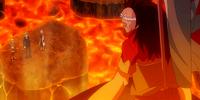 Lucy Heartfilia, Yukino Agria & Loke vs. Uosuke