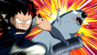 Gajeel beats monster