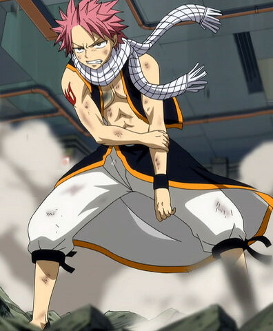 File:Natsu after Gajeel's breath attack.jpg