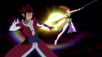 Cobra fights Erza