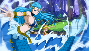 Aquarius is summoned by Lucy