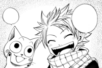 Natsu and New Born Happy