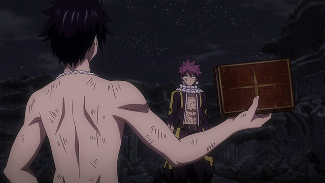 File:Natsu and Gray argue over the book.png