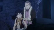 Wakaba holding Romeo back