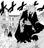 Acnologia appears next to Erza and Wendy