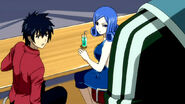 Gray and Juvia meet Simon