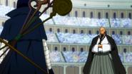 Jellal fights Jura disguised as Mystogan
