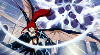 Erza destroys one of Nirvana's Lacrima