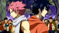 Natsu & Gray surrounded by Naked Mummy