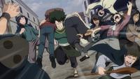 The Treasure Hunters flee