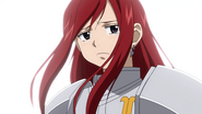Erza cries in front of Team Natsu