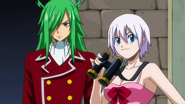 File:Lisanna and Freed spying on Raven Tail.png