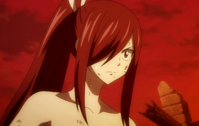 Erza surprised to see the Twin Dragons