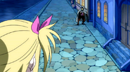 Someone is following Lucy