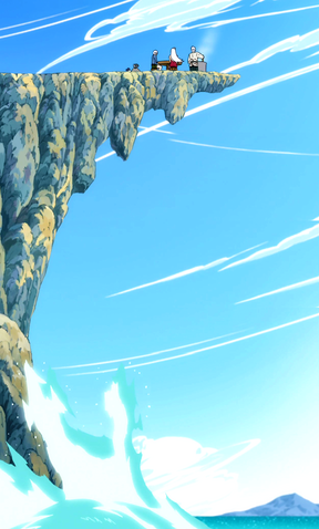 File:Mira, Elfman and Lissana eating above a dangerous place.png