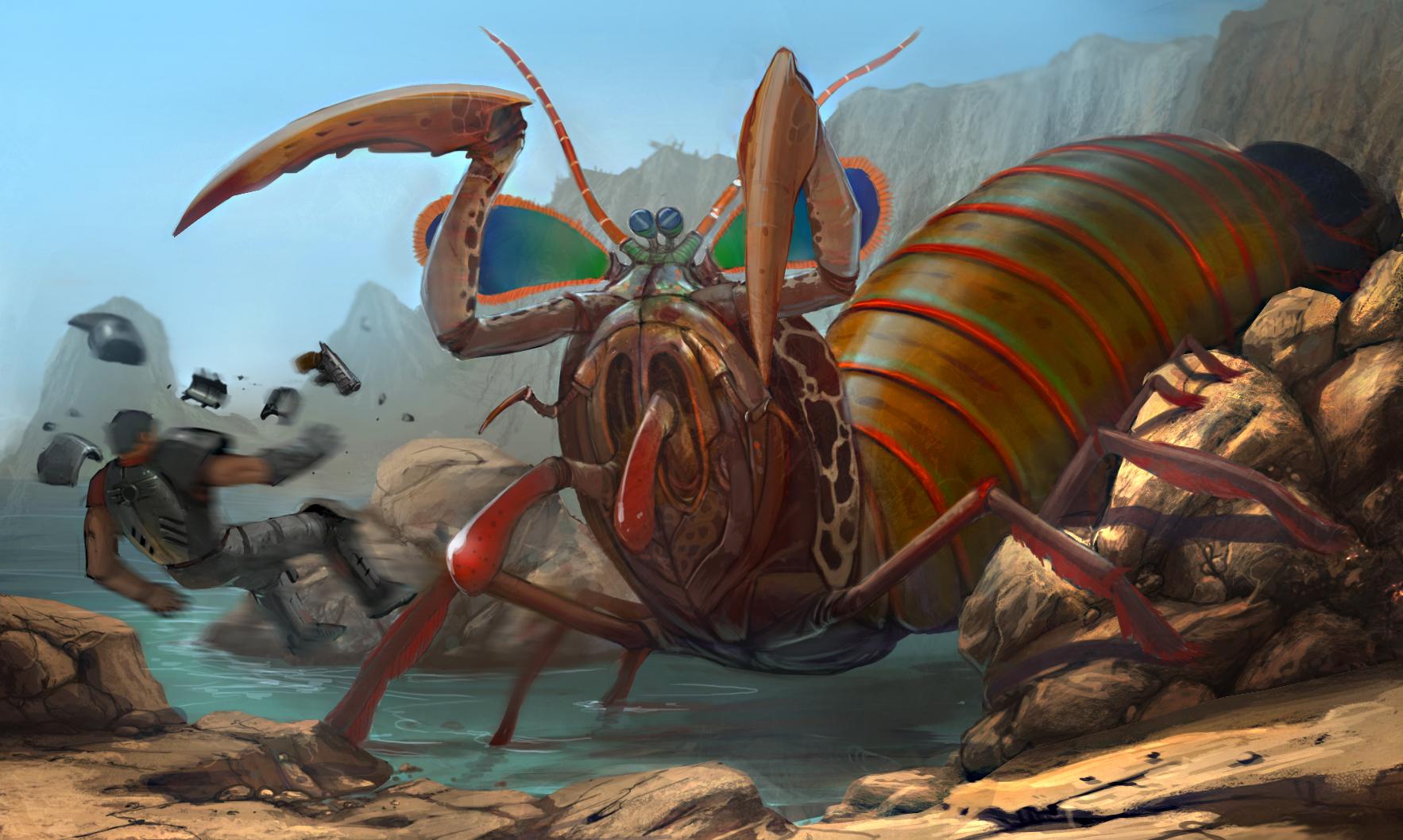 Image - Concept mutant mantis shrimp.jpg | Fallout Wiki | Fandom ...