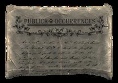 Publick Occurences paper