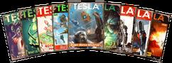 Tesla Magazine collage