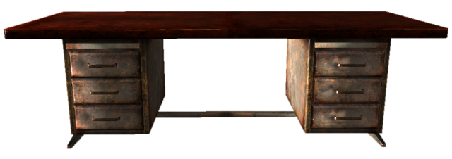 File:Wooden office desk.png