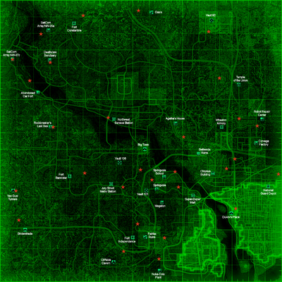 Enclave outposts map