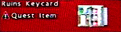 FoBoS ruins keycard