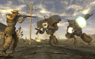 FNV screenshot TV robots