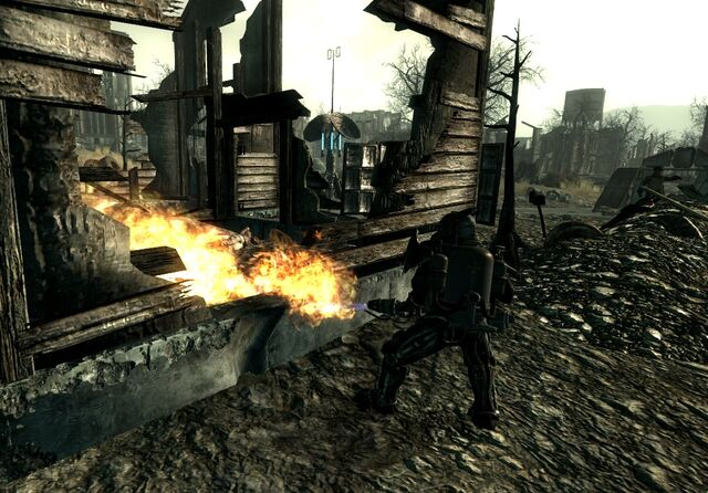 File:Enclave troop burning Ghouls National Guard depot.jpg