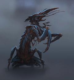 Fo4FH fog crawler concept art