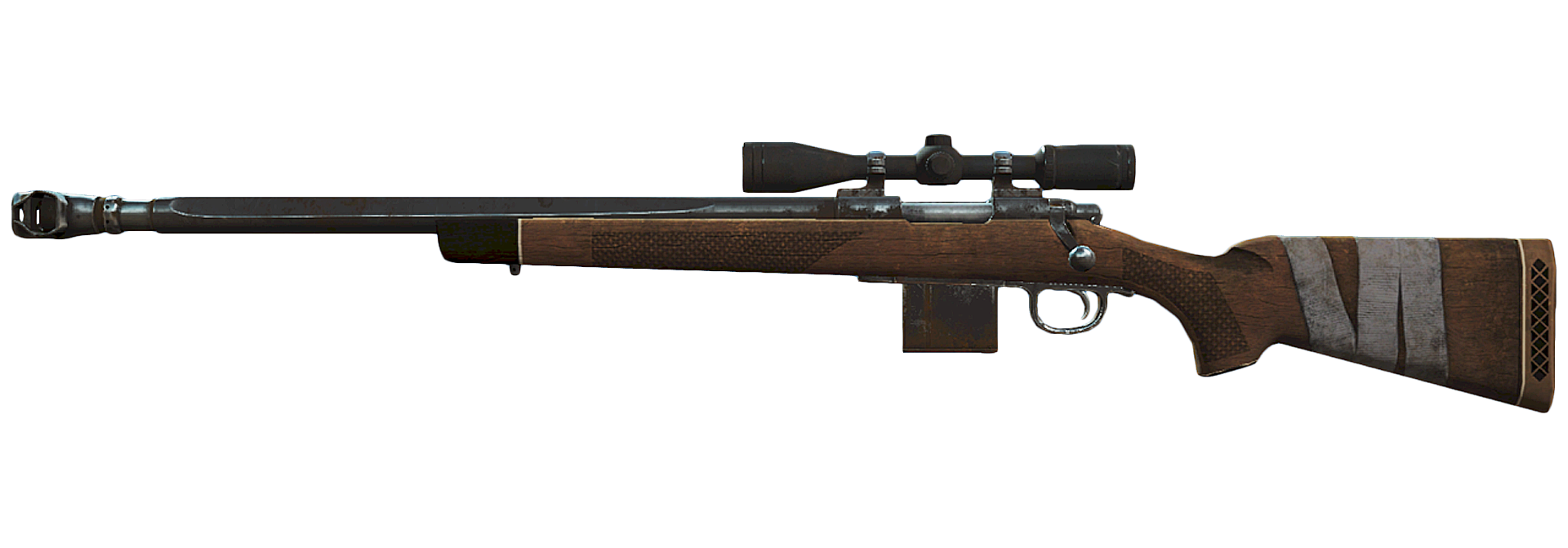 Image - FO4 Compensated hunting sniper rifle.png   Fallout ...