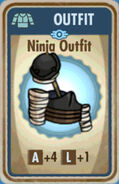 FoS Ninja Outfit Card