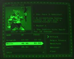 Grognak battle screen