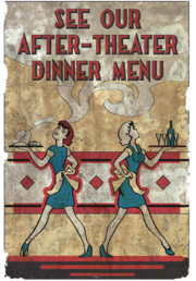 Fo4 Poster Theater (See our after-theater dinner menu)
