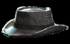 Worn fedora model