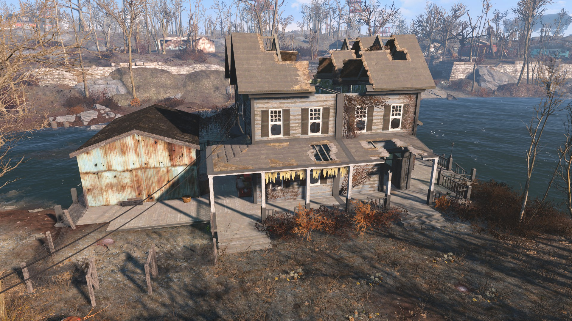 Taffington boathouse fallout wiki fandom powered by wikia for Best house designs fallout 4