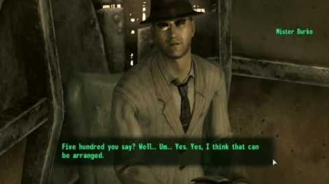 Fallout 3 - Seducing Mr. Burke as a Man