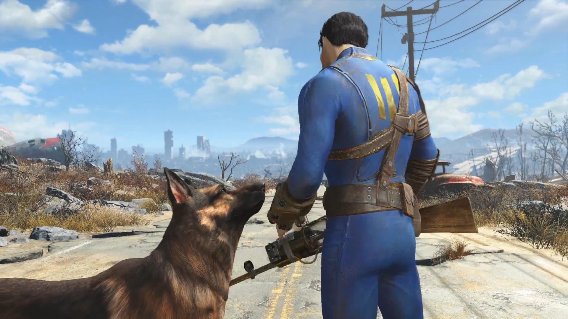 Image boston skyline from fallout wiki fandom powered by wikia - Fallout new vegas skyline ...