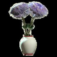 Glass barrel red vase
