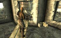 Bethesda ruins Sniper above barricade