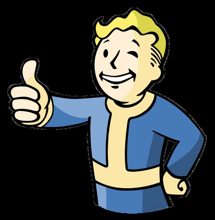 Fallout 3 Cartoon Vault Boy of Fallout 3
