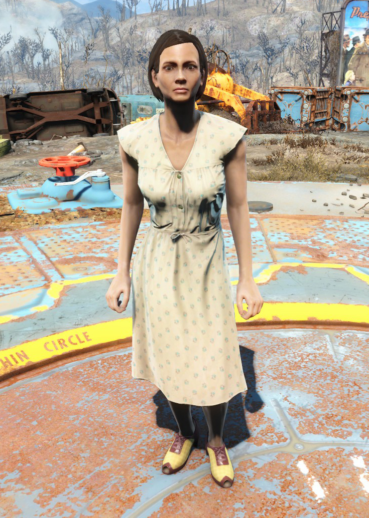 laundered cream dress